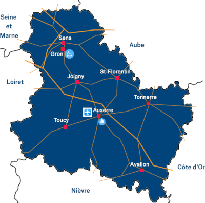 Implantation de la CCI dans l'Yonne