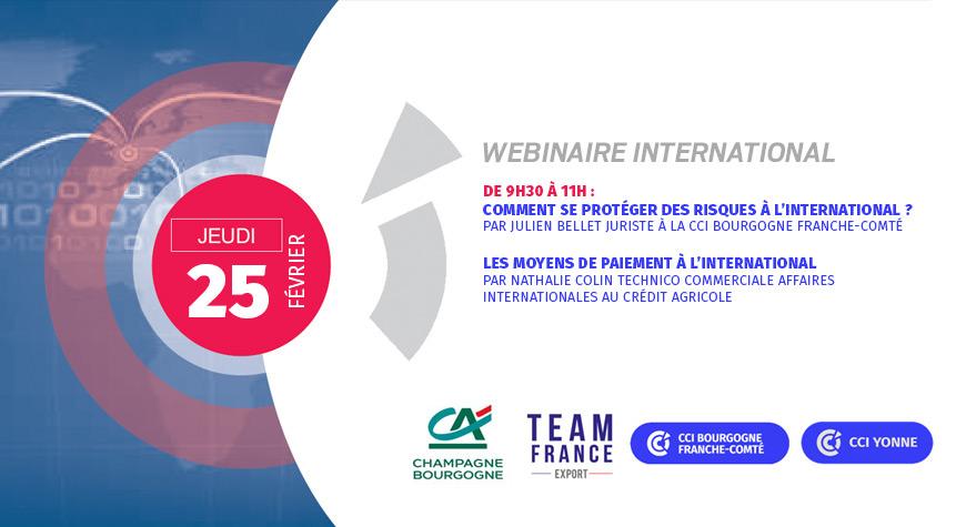 Webinaire commerce international – 25 février