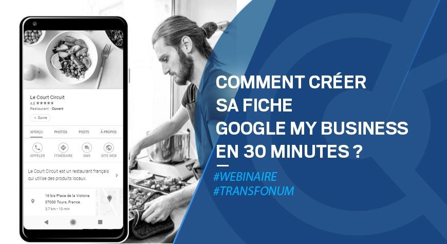 Atelier Google – Créer sa fiche My Business en 30min
